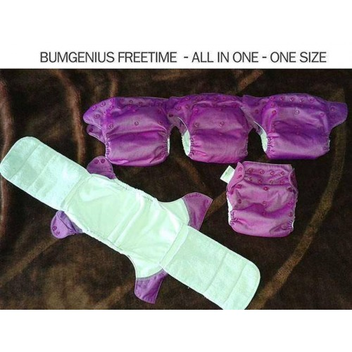 10 Bumgenius Organic All in one, One size / 5 Bumgenius Freetime